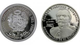 BCR lanzó moneda en homenaje a los 200 años del natalicio de Francisco Bolognesi
