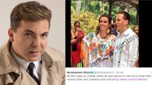 ¡Cristian Castro se casó por tercera vez!