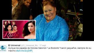 Falleció recordada actriz de la telenovela 'Rubí'
