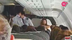 ¡Modelo chilena  quiso abrir la puerta del avión en pleno vuelo!
