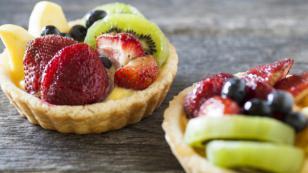 Tartaletas de frutas sin horno