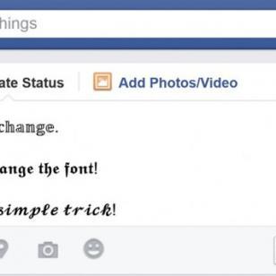 Cambia el tipo de letra de tus publicaciones de Facebook con este truco