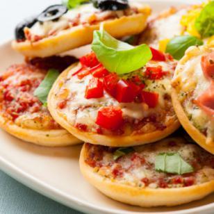 Deliciosas mini pizzas de coliflor