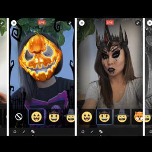 Facebook se 'disfrazó' de Snapchat por Halloween
