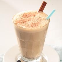 Exquisito batido de café frío.
