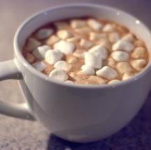 Bombones con chocolate caliente