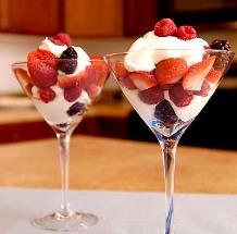 Chantilly con frutas.