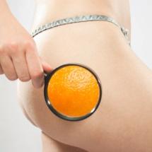 Pepino para eliminar la piel de naranja.