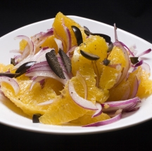 Ensalada de naranjas y cebolla.
