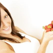 Fresas para hidratar la piel.