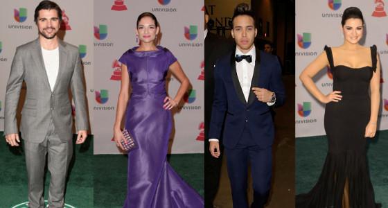 Famosos en la alfombra verde de los Latin Grammy 2014