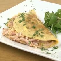 Omelette de jamón y queso ¡fácil y delicioso!