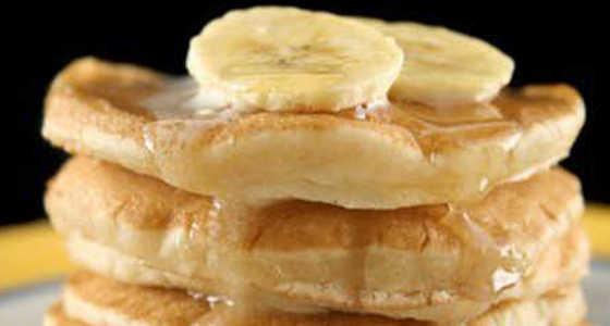 Panqueques dulces con plátano