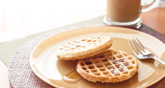 Waffles de canela caseros